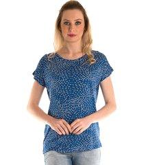 blusa konciny estampada azul