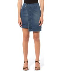 lola jeans high rise asymmetrical skirt