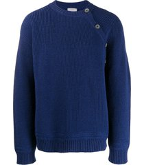 lanvin ribbed knit sweatshirt - blue