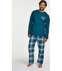 hunkemöller pyjamasset för killar blå