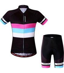 verano equitación traje short-sleeved camisetas shorts maillots femenina establece choi