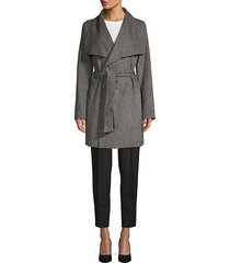 ella double-faced wrap coat