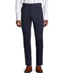 tommy hilfiger men's slim-fit seersucker stretch-cotton suit separates pants - navy - size 36 34