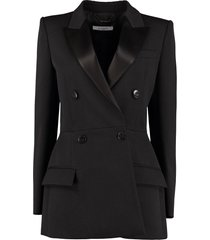 givenchy satin details wool blazer