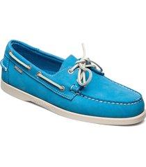 docksides loafers låga skor blå sebago