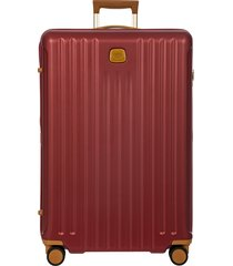 men's bric's capri 2.0 30-inch expandable rolling suitcase - red