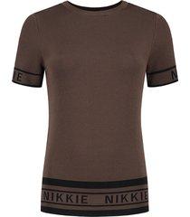 donker bruin dames shirt nikkie - jolien top - n7-568 1905 5506