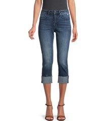 vigoss women's cropped jeans - dark wash - size 26 (2-4)