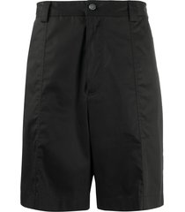 acne studios wide-leg shorts - black
