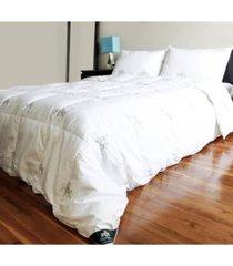 triumph hill down bed comforter jacquard cotton case, twin/long size