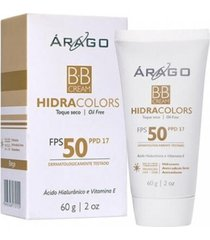 arago bb cream hidracolors fps50 bege 60g - multicolorido - dafiti