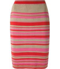 eva knitted striped pencil skirt - multicolour