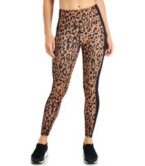 ideology women's printed colorblock 7/8 leggings, created for macy's