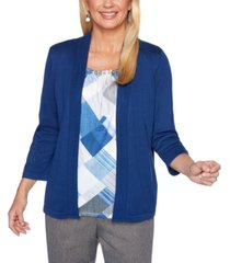 alfred dunner petite sapphire skies layered sweater top