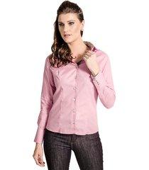 camisa carlos brusman slim reta poá rosa