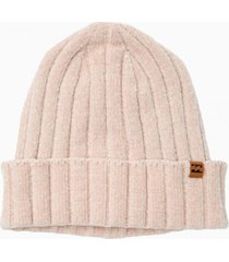gorro mujer warm up crema billabong