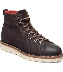 don mid lace boot snörade stövlar brun gant