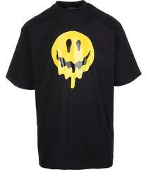 man black wide line drip peace t-shirt