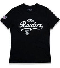 camiseta oakland raiders nfl new era feminina