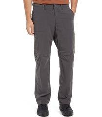 men's l.l.bean men's cresta zip off hiking pants, size 40 x 32 - grey
