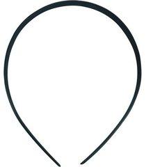 tiara plástica achatada kit 10mm com 12 unidades preta