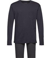 pyjama long pyjamas svart schiesser