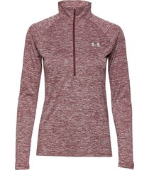 new tech 1/2 zip sweat-shirt tröja rosa under armour