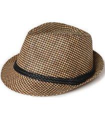 sombrero bordeaux marrón new man