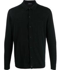 roberto collina knit shirt cardigan - black