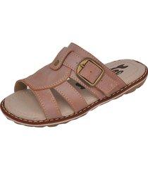sandália infantil raniel calçados papete chinelo com fivela regulagem canela