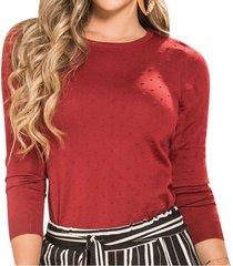 blusa kyla vinotinto  para mujer croydon