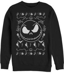 fifth sun men's jack spooky sweater long sleeve t-shirt