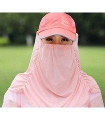 sombrero de sol protector de verano para mujer-rosa