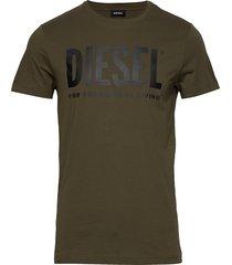 t-diego-logo t-shirt t-shirts short-sleeved grön diesel men
