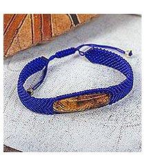 amber pendant bracelet, 'electrum in blue' (mexico)