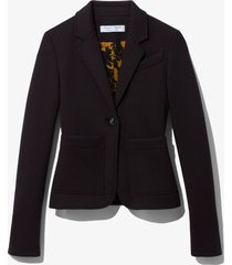 proenza schouler white label jersey suiting blazer black xl