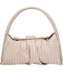 themoirè hera braid shoulder bag in beige leather