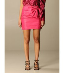 red valentino skirt red valentino leather skirt with big bow