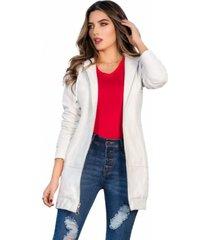 chaqueta colombiana blanco modana
