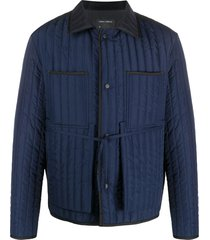 craig green quilted work jacket - blue
