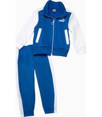 trainingspak voot baby's, blauw/wit, maat 68 | puma