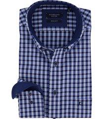 blauw geruit overhemd giordano regular fit