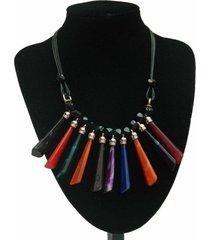 collar multicolor tiras