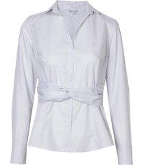 camisa dudalina manga longa detalhe nó feminina (listrado, 42)