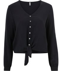 blus onlnina life l/s tie shirt