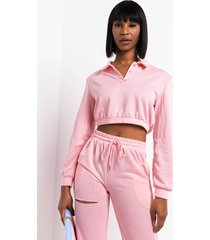 akira frankie collared long sleeve top