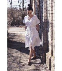 bawełniana sukienka sekwoja biała