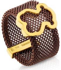 anillo mesh marrón tous 613105551 - superbrands