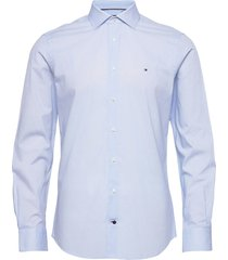 geo prt slim shirt overhemd business blauw tommy hilfiger tailored