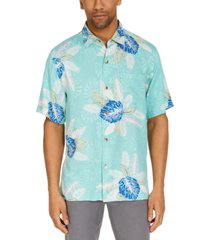 tommy bahama men's coastal gardens classic-fit tropical print silk camp shirt